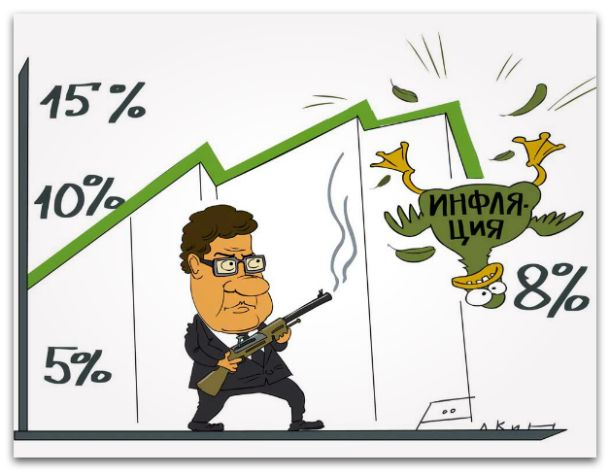 Центробанк изменил инфляционный прогноз на 2014 год